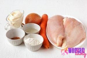 Ингредиенты для куриного филе в мультиварке