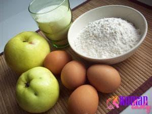 Ингредиенты для шарлотки в мультиварке