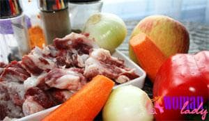 Ингредиенты для свиных ребрышек