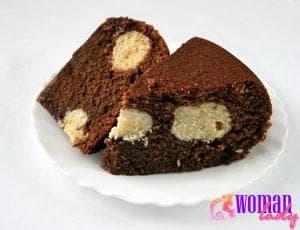 Манник шоколадный в мультиварке с кокосово-творожными шариками