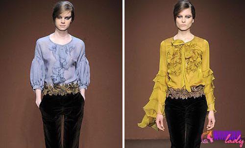 Осень-зима 2011-2012: модные блузы