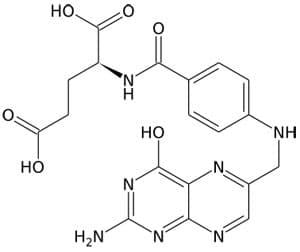 Фолиевая кислота - химическая формула