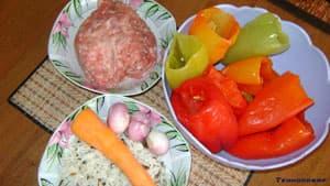 Ингредиенты для перца фаршированного в мультиварке