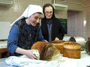 Кулич из монастырской кухни