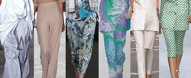 Весна/лето 2013: модные фасоны женских брюк