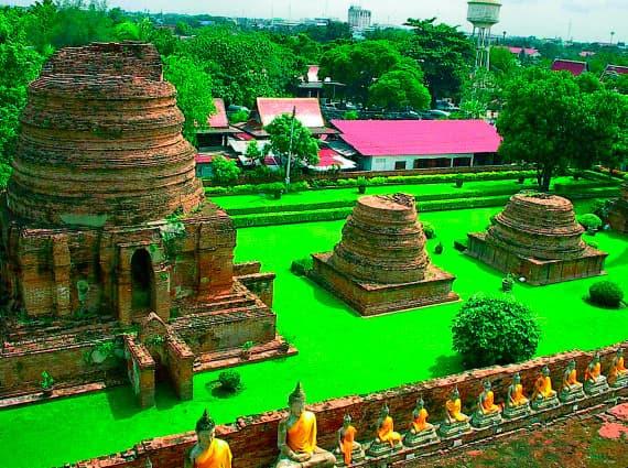 Столица древнего королевства Аюттхая, отдых в Таиланде