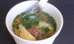 Суп с телятиной и грибами